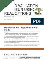 Brand Valuation of Dabur Using Real Options