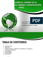 TRATADO SOBRE EL CAMBIO DE LA CUBIERTA DE LAS TIERRAS Y DESERTIZACIÓN (FAO).pptx