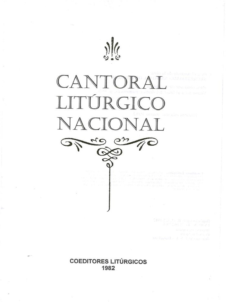 CANTORAL LITURGICO NACIONAL EPUB