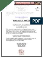 Mrdanga Notes Compiled by Subhash Chandran Prabhu