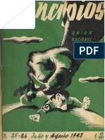 PRINCIPIOS N°25 Y N°26 - JULIO - AGOSTO DE 1943 - PARTIDO COMUNISTA DE CHILE
