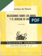relecciones sobre los indios y el derecho de guerra - FRANCISCO DE VITORIA.pdf