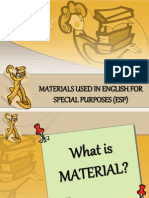 Materials use in English for Specific Purposes