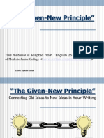 4a the Given-New Principle