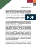 Declaración CP cas