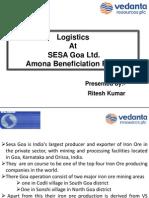 Logistics at Amona Iron Ore Plant