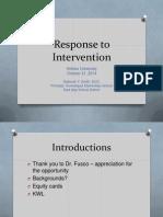response to intervention - hofstra presentation 10-21-14