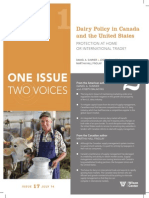 Dairy Policy in Canada and the United States