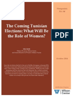 What role will women play in Tunisia's upcoming elections?