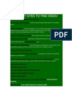 different sites to find ideas