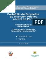 INFRAESTRUCTURA DE RIEGO MENOR - CASO PRACTICO Y PLANTILLA.doc