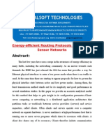 IEEE 2014 DOTNET MOBILE COMPUTING PROJECT Energy-efficient Routing Protocols in Wireless Sensor Networks