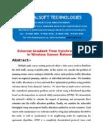 IEEE 2014 DOTNET MOBILE COMPUTING PROJECT External Gradient Time Synchronization in Wireless Sensor Networks
