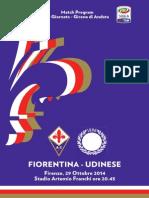 Match Program Fiorentina-Udinese