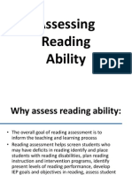 Assessing Reading Ability