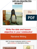 lesson 5 year 9 narrative writing unit