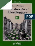 Vattimo- Una Introduccion a Heidegger