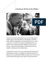 Giving Student Feedback 20 Tips to Do It Right