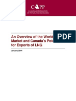 An Overview of the World LNG Market and Canada's Potential for Exports of LNG