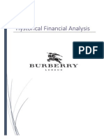 Burberry Financial Analysis