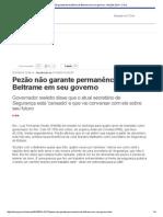 Pezão não garante permanência de Beltrame em seu governo - Eleições 2014 - O Dia.pdf