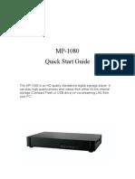 MP1080 User Guide