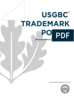 Usgbc Tradmark Policy