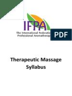 Shirley Price Therapeutic Massage Syllabus