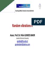 Random vibrations‐II