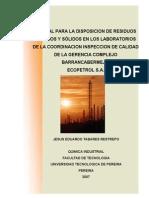 manual disposi res liq y solid, Residuos de Laboratorio.pdf