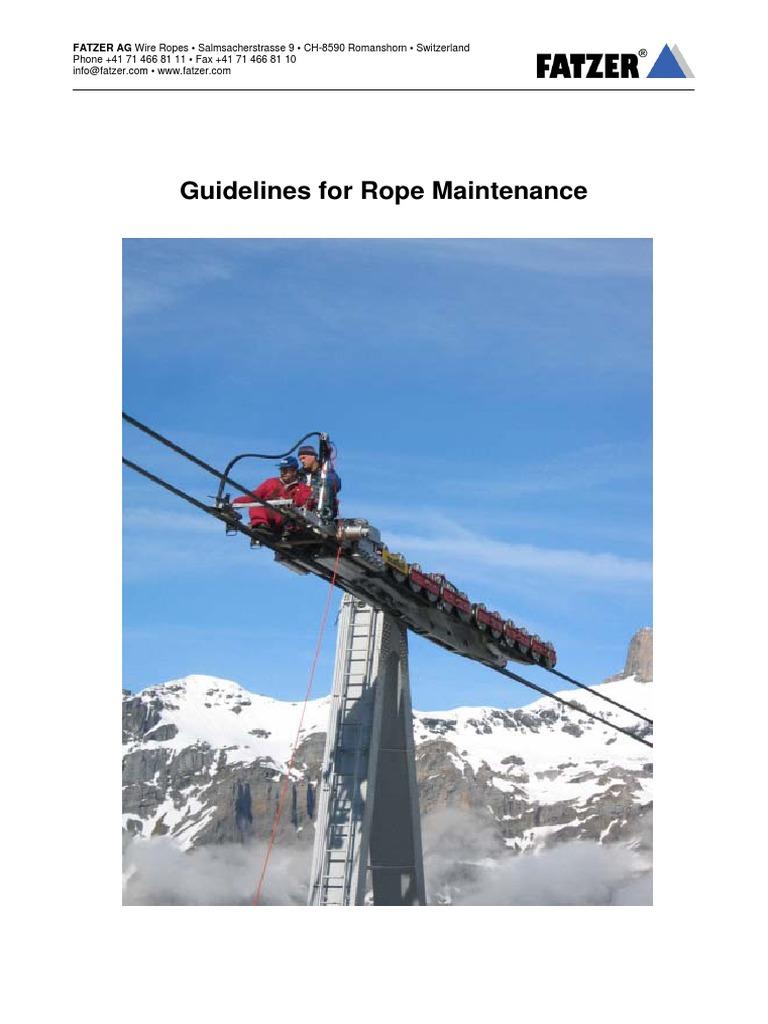 wire Rope Maintenance En | Rope | Wire