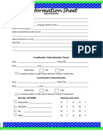 miss ks student information sheet