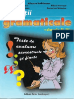 Exercitii Gramaticale Clasele II IVCulegere