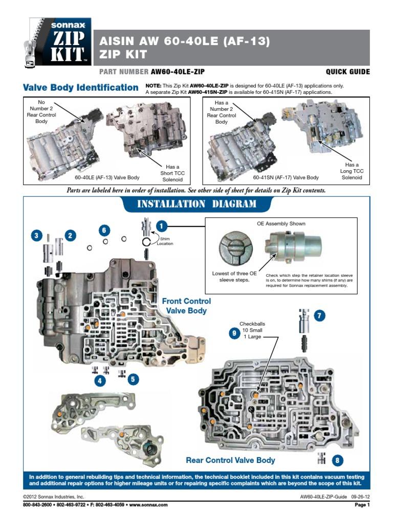 aw60 40le zip in pdf valve clutch rh scribd com