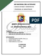 Descripcion, Analisis de puesto ..... DK.docx
