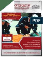 Diploma en Gestión de la Seguridad y Salud Ocupacional
