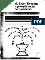 Carmelo Lisón Tolosana - Antropología social y hermenéutica.pdf