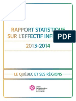 292S Rapport Statistique 2013 2014