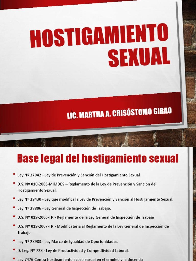 Hostigamiento sexual en el empleo ppt
