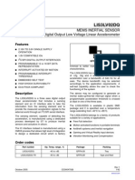 MEMS INERTIAL SENSOR 3-Axis - ±2g/±6g Digital Output Low Voltage