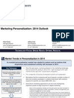 Marketing Personalization June 2014