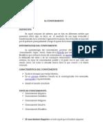 EL CONOCIMIENTO - ENSAYO.doc