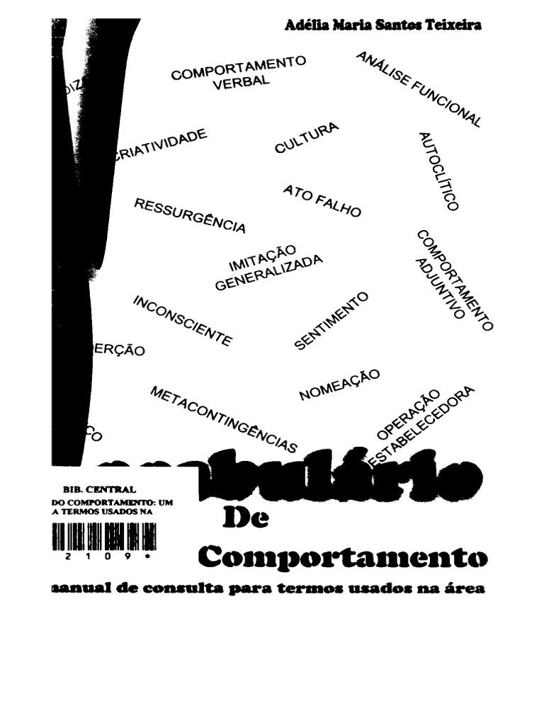 Vocabulário de Análise do Comportamento um manual de