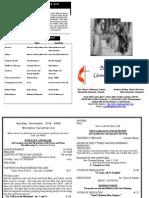 12 27 2009 Web Bulletin