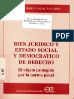 Bien Juridico y Estado Social y Democratico de Derecho - Hern n Hormazabal Malaree