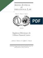 Morriss - Regulation of Offshore Finances
