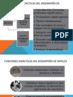 FUNCIONES DIDÁCTICAS DEL DESEMPEÑO DE PAPELES.pptx