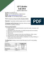 ap calculus syllabus