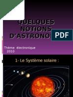 Quelques notions d'astronomie