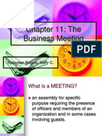 Chapter 11 Business Meeting